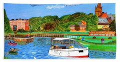 A Day On The River Beach Towel