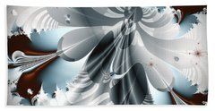 A Deeper Reflection Abstract Art Prints Beach Towel