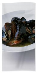 A Dish Of Mussels Beach Towel