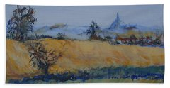 Beach Towel featuring the painting A Field In France by Avonelle Kelsey