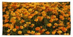 A Field Of Poppies Beach Towel
