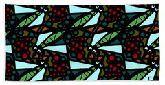 Beach Towel featuring the digital art A Fly Of Sorts And Berries by Elizabeth McTaggart