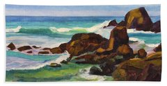 Beach Towel featuring the painting A Frouxeira Galicia by Pablo Avanzini
