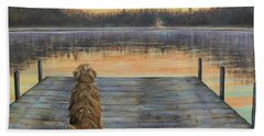 A Golden Moment Beach Towel by Susan DeLain