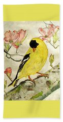 A Goldfinch Spring Beach Sheet