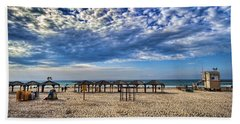 a good morning from Jerusalem beach  Beach Sheet by Ron Shoshani