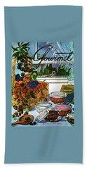 A Gourmet Cover Of A Fruit Basket Beach Towel
