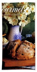 A Gourmet Cover Of Bread And Flowers Beach Towel