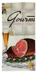 A Gourmet Cover Of Ham Beach Towel