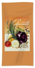 A Gourmet Cover Of Vegetables Beach Towel
