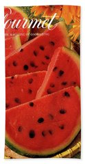 A Gourmet Cover Of Watermelon Sorbet Beach Towel