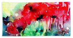 A Haze Of Poppies Beach Sheet