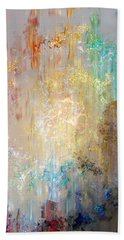 A Heart So Big - Custom Version 2 - Abstract Art Beach Towel by Jaison Cianelli