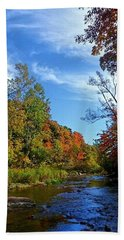 Beach Towel featuring the photograph A Hidden Creek by Kelly Mills