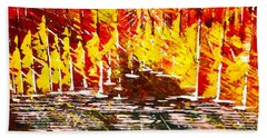 A Hot Summer Day.- Sold Beach Towel by George Riney