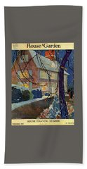 A House And Garden Cover Of A House In Winter Beach Towel