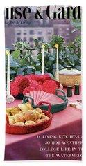 A House And Garden Cover Of Al Fresco Dining Beach Towel