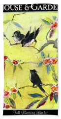 A House And Garden Cover Of Chickadees Beach Towel