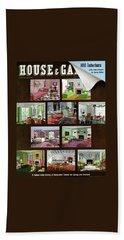 A House And Garden Cover Of Interior Design Beach Towel