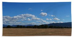 A June Panorama In Southern Oregon Beach Towel by Mick Anderson
