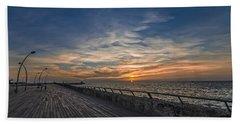 a kodak moment at the Tel Aviv port Beach Sheet