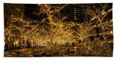 A Little Golden Garden In The Heart Of Manhattan New York City Beach Towel