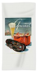 A Lobster And A Lobster Pot With Beer Beach Towel by Henry Stahlhut