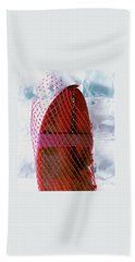 A Lobster Claw In Red Packaging Beach Towel