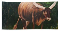 A Lot Of Bull, Watusi  Beach Towel
