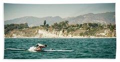 A Man On A Paddleboard, Racing Beach Towel