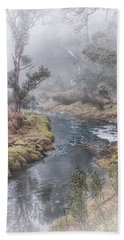 A Misty Morning In Bridgetown Beach Sheet by Elaine Teague