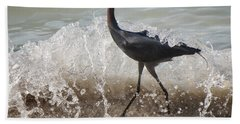 A Morning Stroll Interrupted Beach Towel by Gary Slawsky