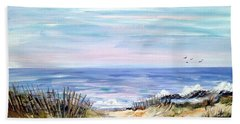 Where The Waves Are Beach Sheet by Dorothy Maier