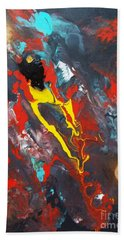 Beach Towel featuring the painting A Phoenix Reborn by Pg Reproductions