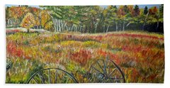 Beach Sheet featuring the painting A Prairie Treasure by Marilyn  McNish