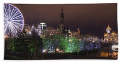 A Princes Street Gardens Christmas Beach Towel