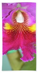 A Purple Cattelaya  Orchid Beach Towel by Lehua Pekelo-Stearns