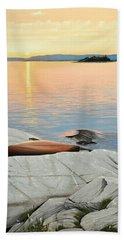 Beach Towel featuring the painting A Quiet Time by Kenneth M  Kirsch