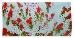 A Red Red Rose Beach Sheet