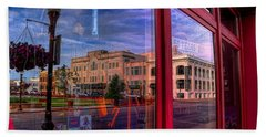 A Reflection Of Wausau's Grand Theater Beach Towel