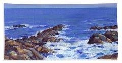 A Rocky Coast Beach Towel
