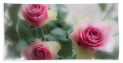 A Rose And A Rose And A Rose Beach Sheet