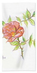 A Rose In Brigadoon Beach Sheet by Kip DeVore