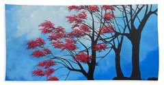 Beach Towel featuring the painting A Safe Place by Dan Whittemore