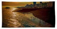 Beach Towel featuring the photograph A September Evening In Brighton by Chris Lord