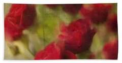 A Shower Of Roses Beach Sheet by Colleen Taylor
