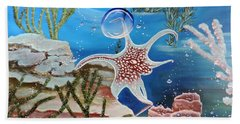A Squid Named Sid Beach Towel