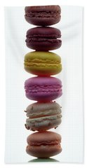 A Stack Of Macaroons Beach Towel