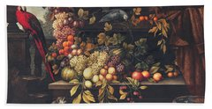 A Still Life With Fruit, Wine Cooler Beach Towel