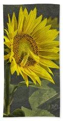 Beach Towel featuring the photograph A Sunflower's Prayer by Betty Denise